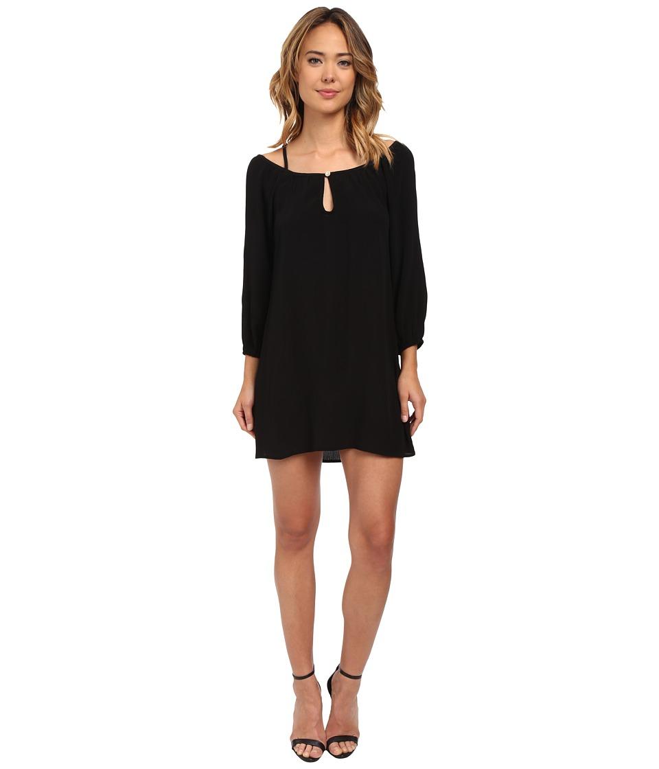 Lucy Love Lotus Swing Dress Black Womens Dress