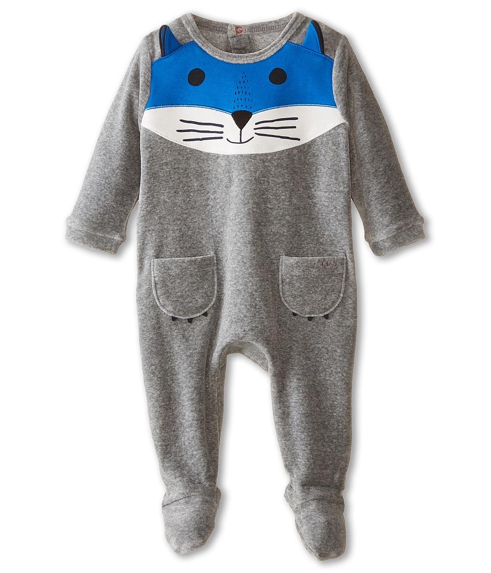 Little Marc Jacobs Velour Fox Footie Infant Grey Boys Jumpsuit Rompers One Piece