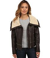 Sam Edelman - PU w/ Oversize Sherpa Collar Moto Jacket