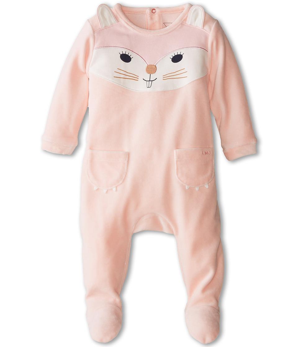 Little Marc Jacobs Velour Cat Footie Infant Ice Pink Girls Jumpsuit Rompers One Piece