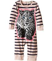 Stella McCartney Kids - Dewberry Striped All In One w/ Leopard Graphic (Infant)