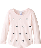 Little Marc Jacobs - Long Sleeve Embellished T-Shirt (Toddler/Little Kids)