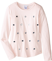 Little Marc Jacobs - Long Sleeve Embellished T-Shirt (Little Kids/Big Kids)