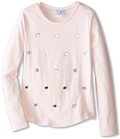Little Marc Jacobs - Long Sleeve Embellished T-Shirt (Big Kids)