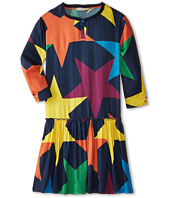 Stella McCartney Kids - Kiwi Colorful Star Print Drop Waist Dress (Little Kids/Big Kids)