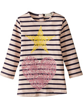 Stella McCartney Kids - Bretta Striped Dress w/ Star and Heart Design (Toddler/Little Kids/Big Kids)