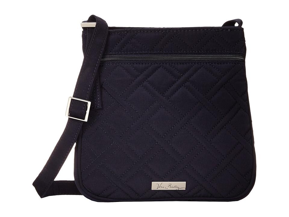 Vera Bradley Petite Double Zip Hipster Classic Navy Handbags
