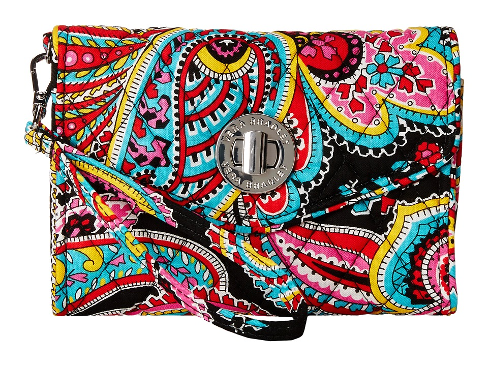 Vera Bradley Your Turn Smartphone Wristlet Parisian Paisley Wristlet Handbags
