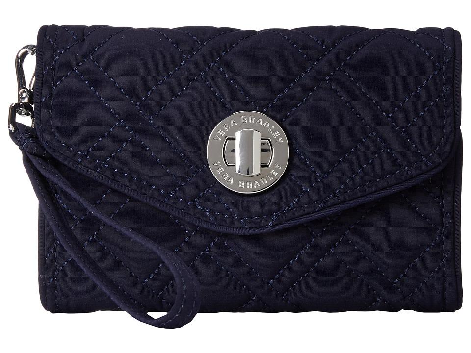 Vera Bradley Your Turn Smartphone Wristlet Classic Navy Wristlet Handbags