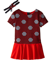 Little Marc Jacobs - Stripe and Dot Dress with Headband (Toddler/Little Kids)
