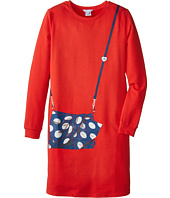 Little Marc Jacobs - Long Sleeve Fleece Dress with Purse Illustration (Big Kids)