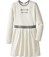 Little Marc Jacobs - Long Sleeve Dress with Lurex Elastic Waist (Big Kids)