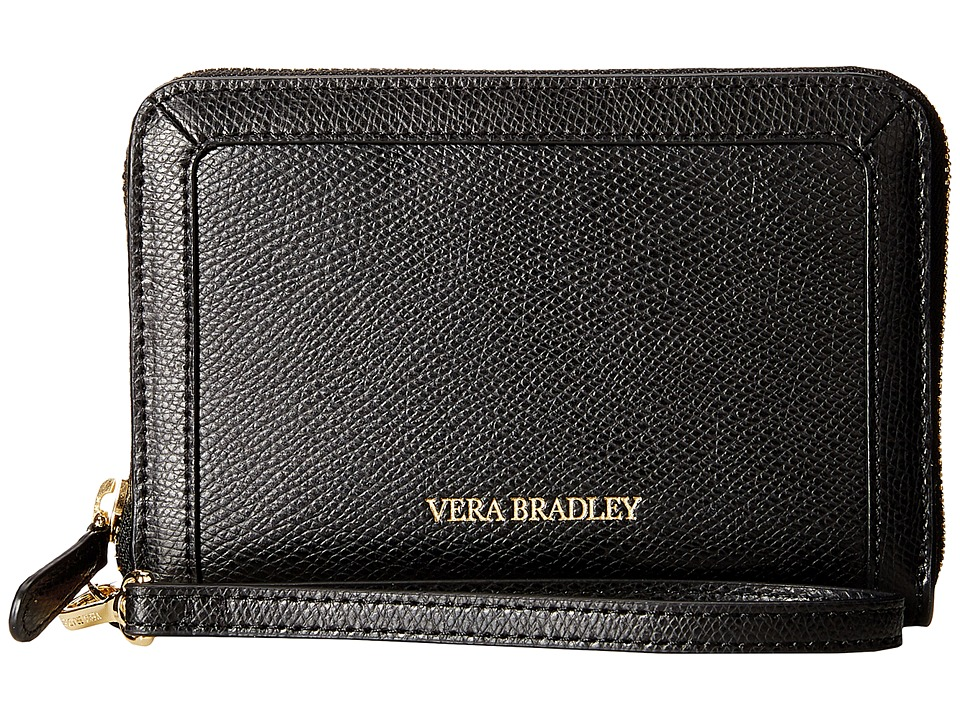 Vera Bradley Grab Go Wristlet Black Wristlet Handbags