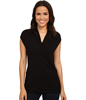 Adrianna Papell - Solid V-Neck Cap Sleeve Top