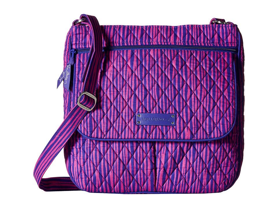 Vera Bradley Double Zip Mailbag Impressionista Stripe Cross Body Handbags