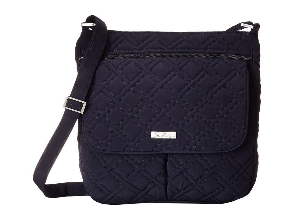 Vera Bradley Double Zip Mailbag Classic Navy Cross Body Handbags