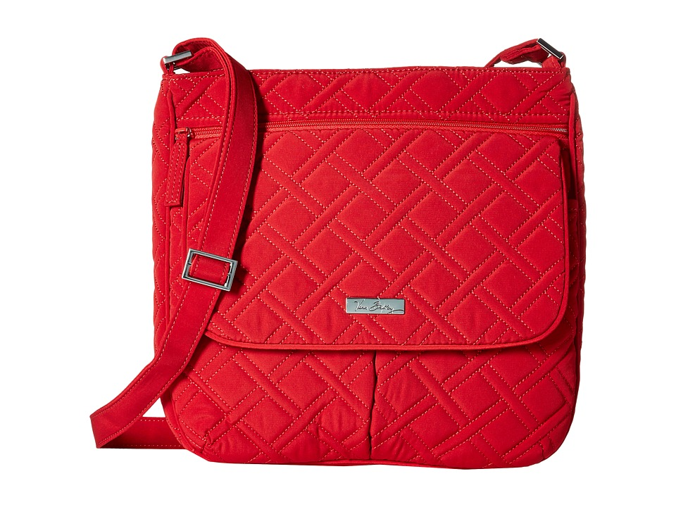 Vera Bradley Double Zip Mailbag Tango Red Cross Body Handbags