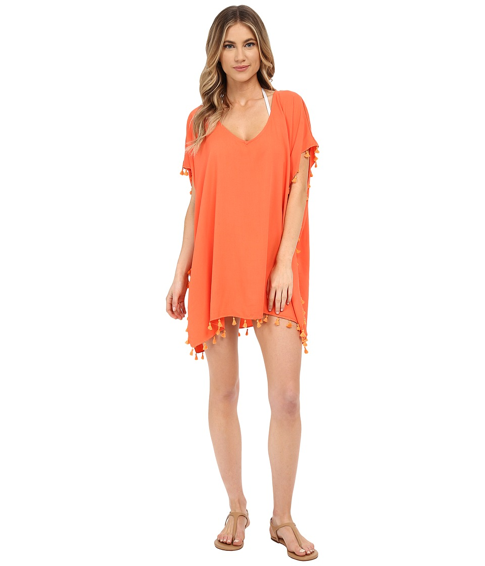 Seafolly Bling Beach Kaftan Cover Up Nectarine Womens Swimwear