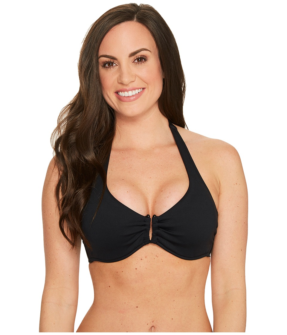 Seafolly D Cup U Halter Top (Black)