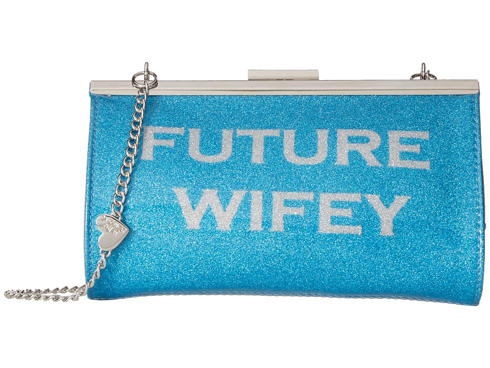 Betsey Johnson - Wifey/Future Wifey Clutch (Blue Multi) Clutch Handbags