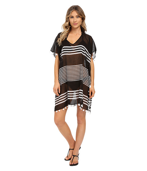 Seafolly Gilli Island Kaftan Cover-Up - Black