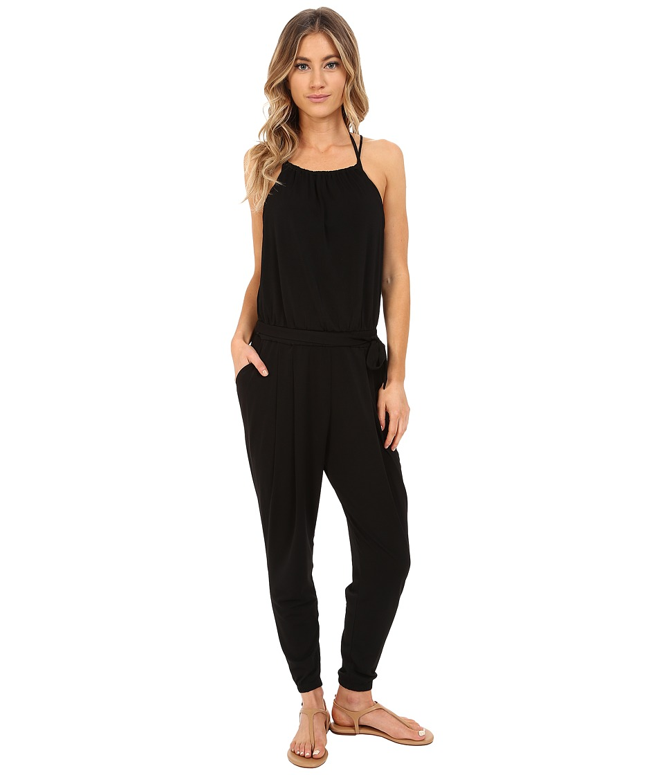 Seafolly - Safari Jumpsuit Cover-Up (Black) Women's Jumpsuit & Rompers One Piece