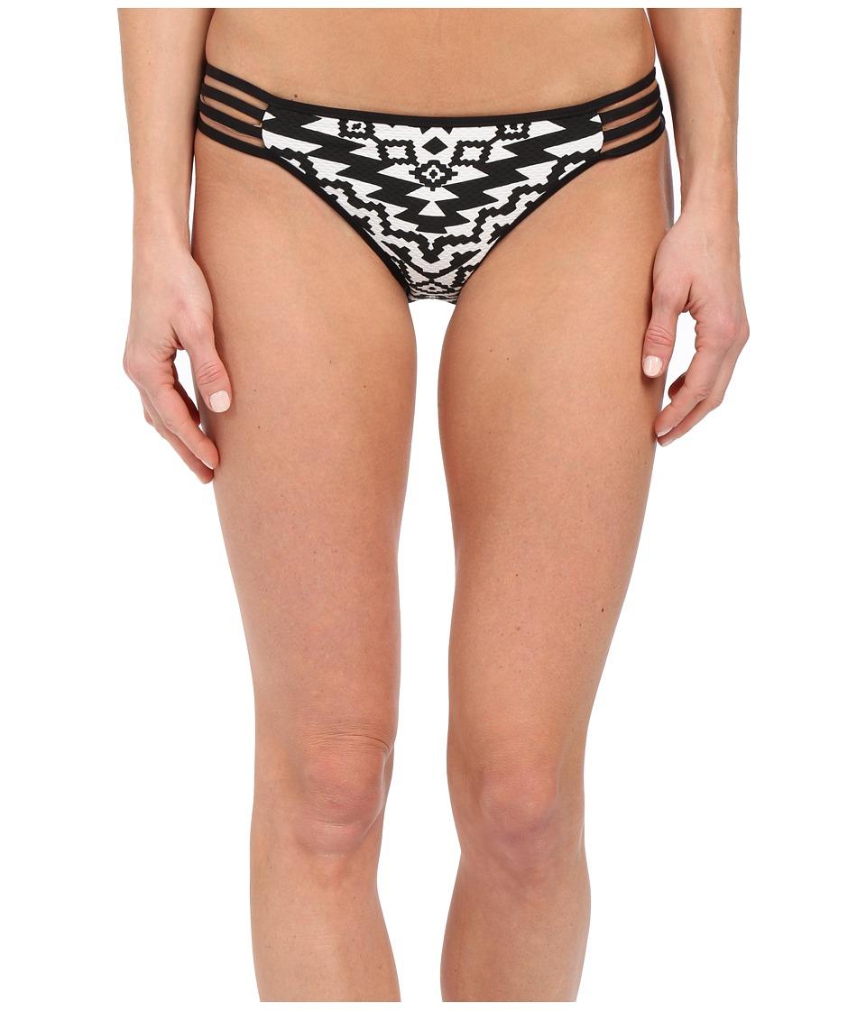 Seafolly Kasbah Multi Strap Hipster Bottom Black/White Womens Swimwear