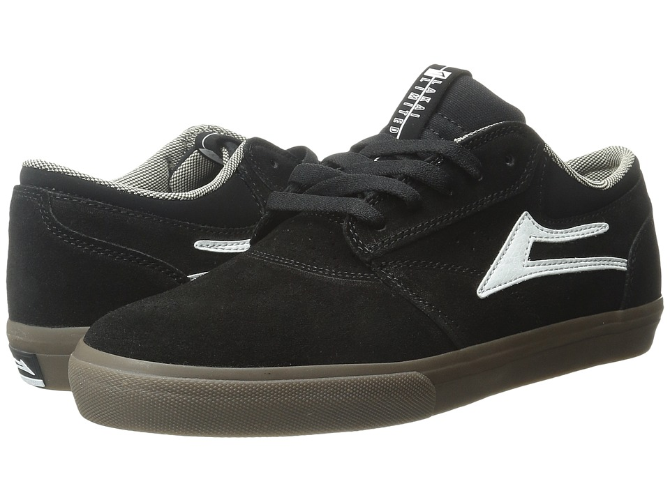 Lakai Griffin Black/Dark Gum Suede Mens Skate Shoes