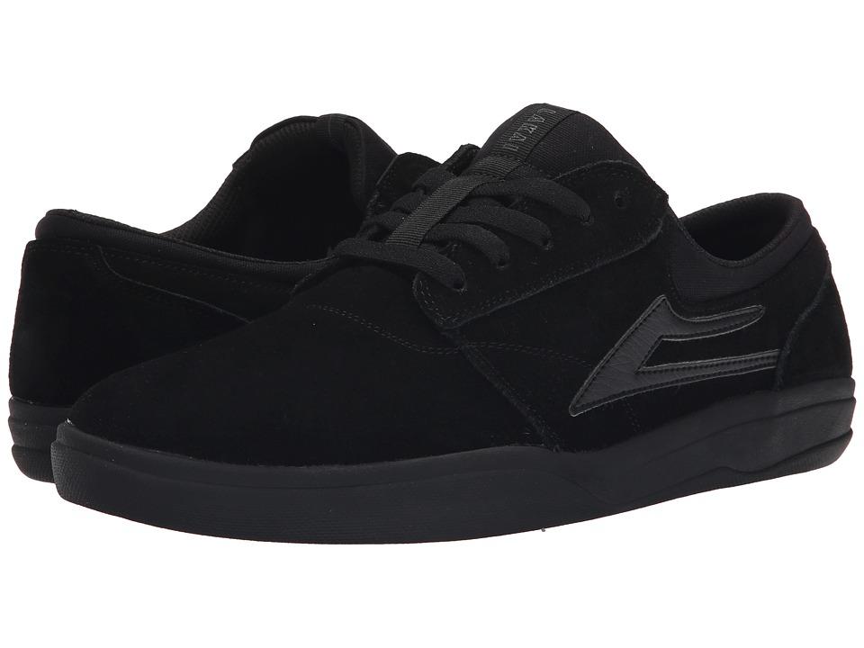 Lakai Griffin XLK Black/Black Suede Mens Skate Shoes