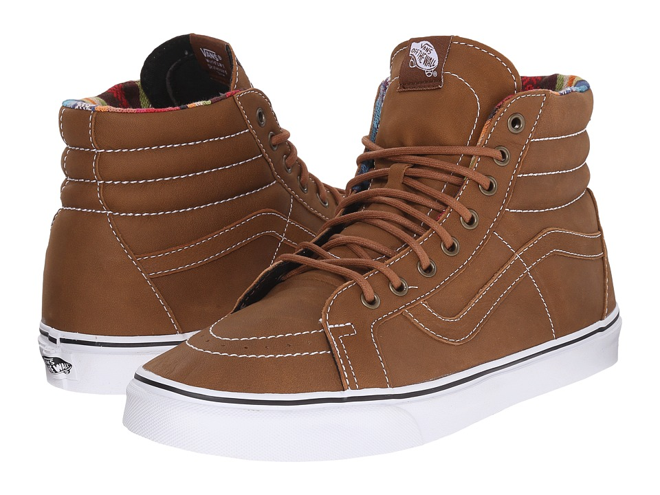 Vans SK8 Hi Reissue Leather Brown/Guate Skate Shoes