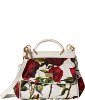 Dolce & Gabbana Kids - Ceremony Rose Print Mini Handbag (Little Kids/Big Kids)
