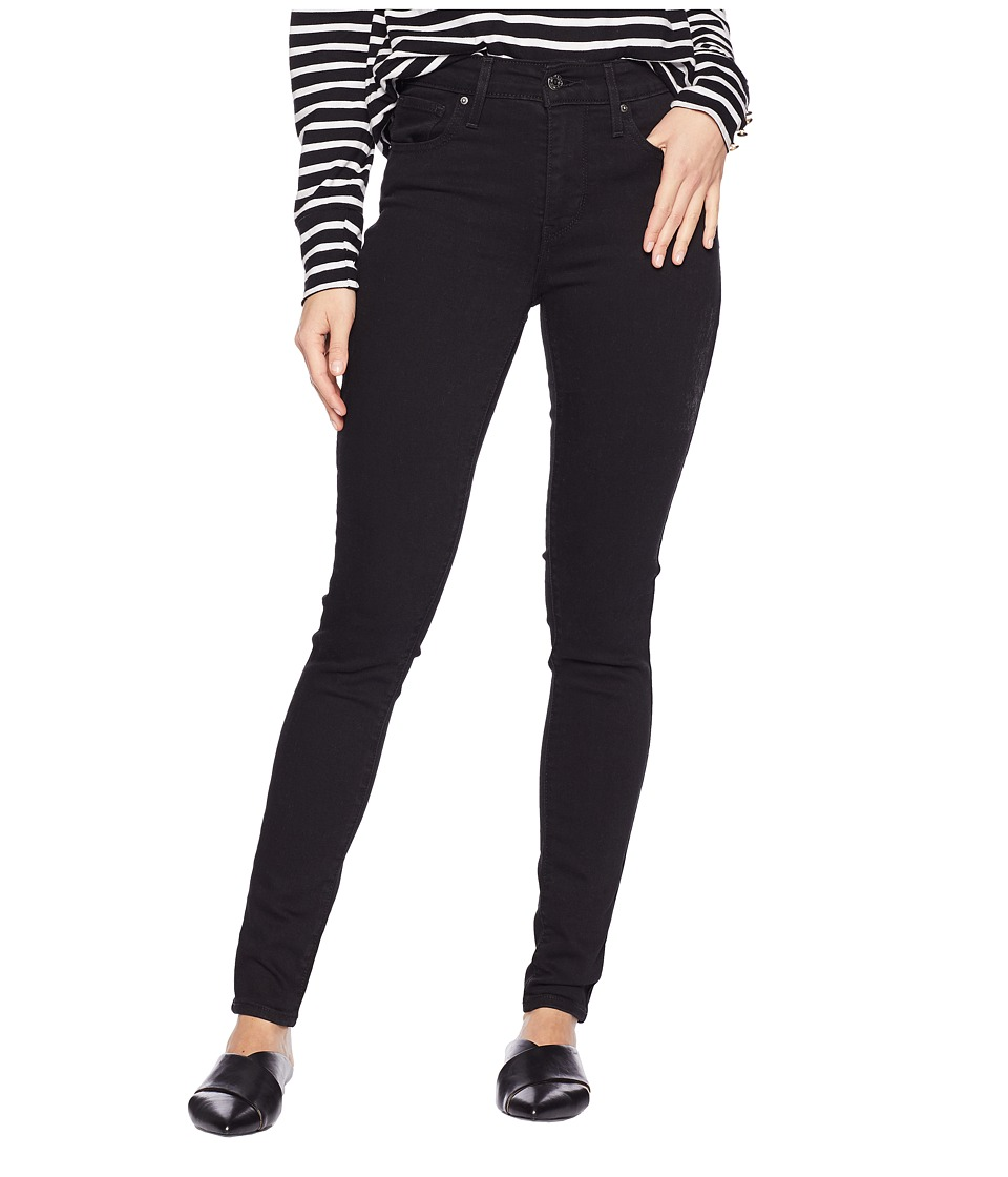 Levis(r) Womens - 721 High Rise Skinny (Soft Black) Womens Jeans