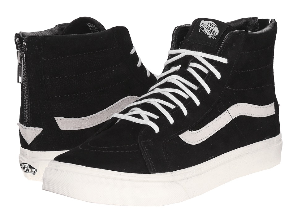 SK8-Hi Slim Zip ((Lizard Emboss) Black/Blanc de Blanc) Skate Shoes