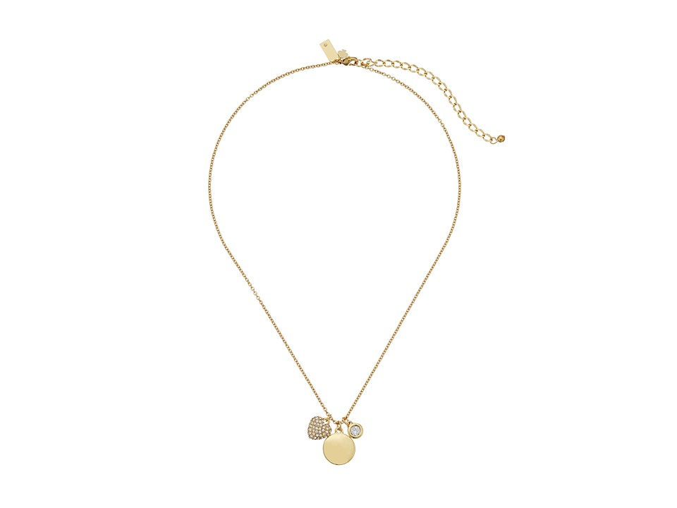 Kate Spade New York - Born To Shine Heart Charm Necklace (Clear/Multi) Necklace