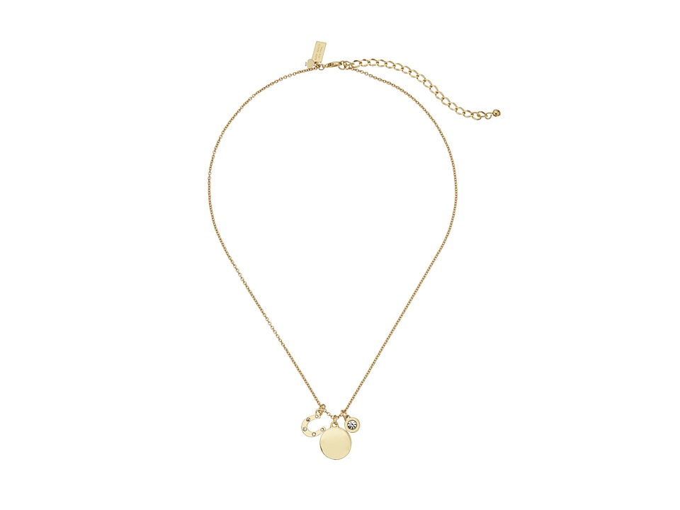 Kate Spade New York - Born To Shine Horseshoe Charm Necklace (Clear/Multi) Necklace