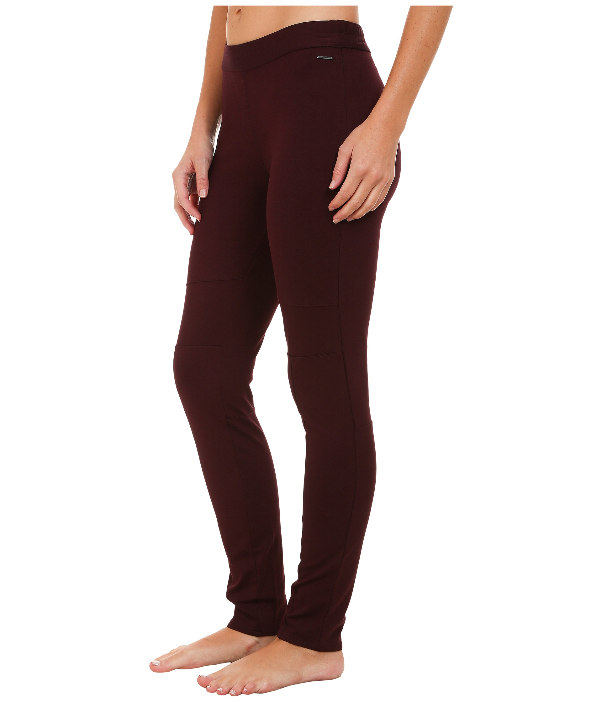 calvin klein jeans pull on ponte leggings cranberry free shipping both ways. Black Bedroom Furniture Sets. Home Design Ideas