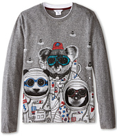 Little Marc Jacobs - Long Sleeve Koala Space Suit T-Shirt (Big Kids)