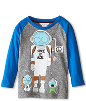 Little Marc Jacobs - Long Sleeve Mr Marc Raglan Tee (Toddler/Little Kids)