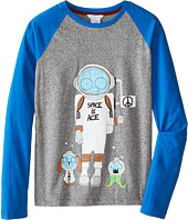 Little Marc Jacobs - Long Sleeve Mr Marc Raglan Tee (Big Kids)