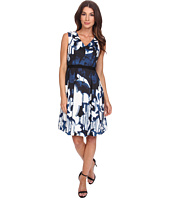 Adrianna Papell - Printed Scuba Dress