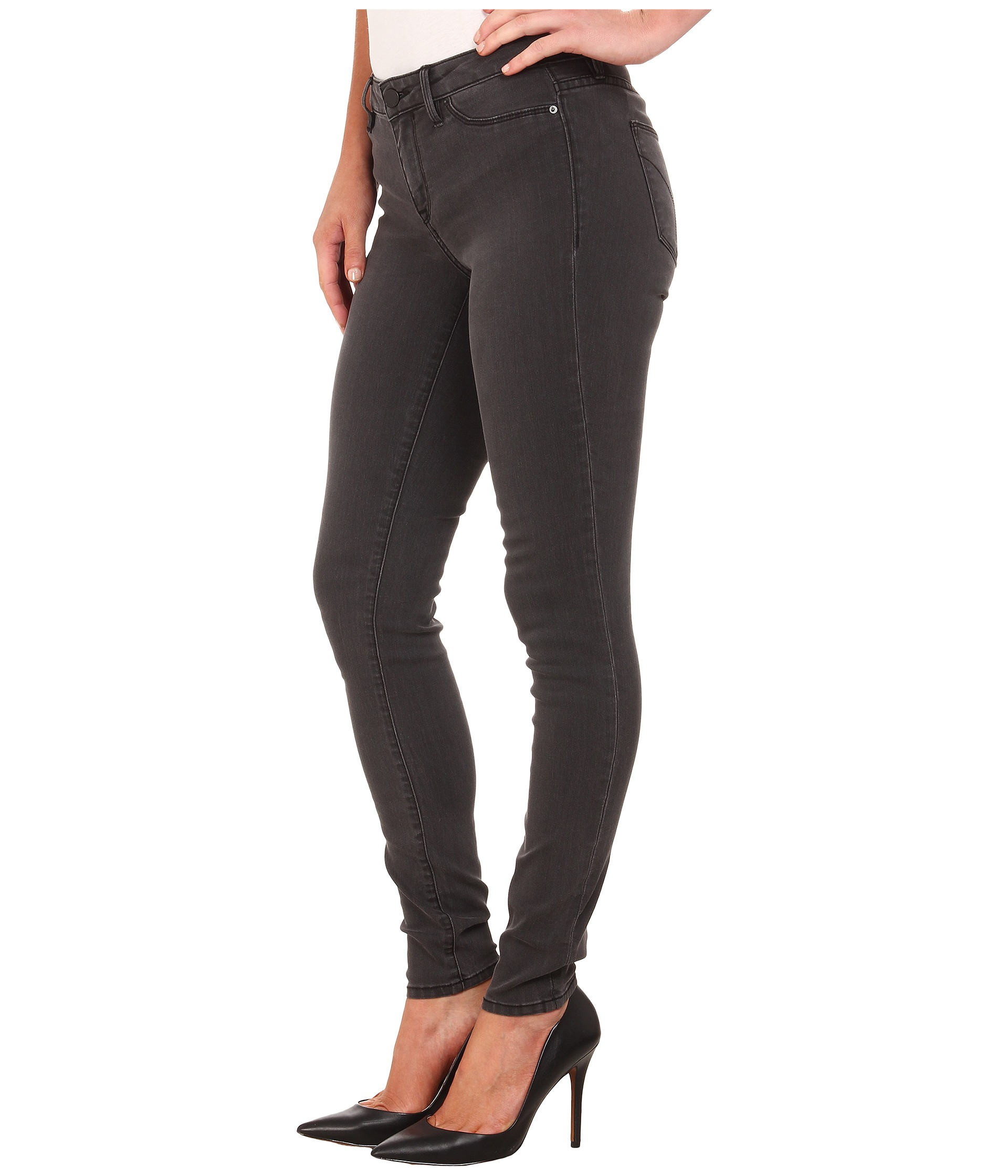 calvin klein jeans denim leggings in washed down grey free shipping both ways. Black Bedroom Furniture Sets. Home Design Ideas