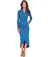 Adrianna Papell - Long Sleeve V-Neck Wrap Dress