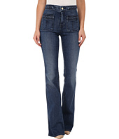 7 For All Mankind - Braided Fashion Flare in Vivid Medium Indigo
