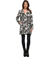 Adrianna Papell - Jacquard Asymmetric Zip-Front Coat