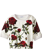 Dolce & Gabbana - Ceremony Rose Print Sweatshirt (Big Kids)