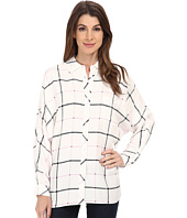TWO by Vince Camuto - Long Sleeve Grid Plaid Relaxed Utility Shirt