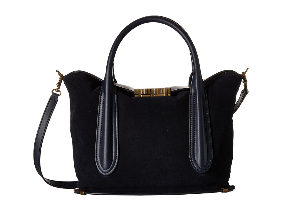 ZAC Zac Posen - Blythe Fold-Over Satchel (Midnight) Satchel Handbags