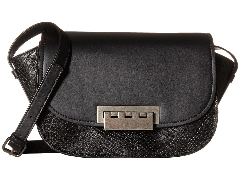 ZAC Zac Posen - Eartha Iconic Accordian Crossbody (Black) Cross Body Handbags