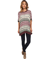 TWO by Vince Camuto - Intarsia Marled Stripe Poncho