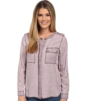 TWO by Vince Camuto - Long Sleeve Pastel Fade Collarless Utility Shirt